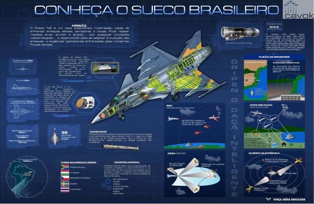 Infográfico F-39 Gripen - FAB