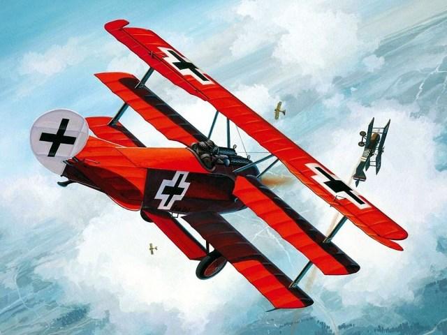 Nenhum avião de combate foi mais famoso que o Fokker triplano de Richthofen, o Barão Vermelho. Seu modelo foi muito reproduzido.