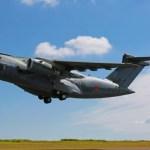 KC-390 da Embraer realiza testes em Campo Grande