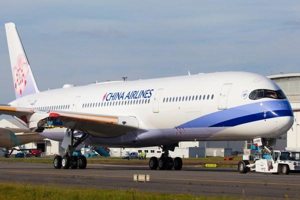 A primeira aeronave A350 para uma companhia aérea chinesa será entregue em julho, para China Airlines. (Foto: Clément Alloing / PlaneSpotters)