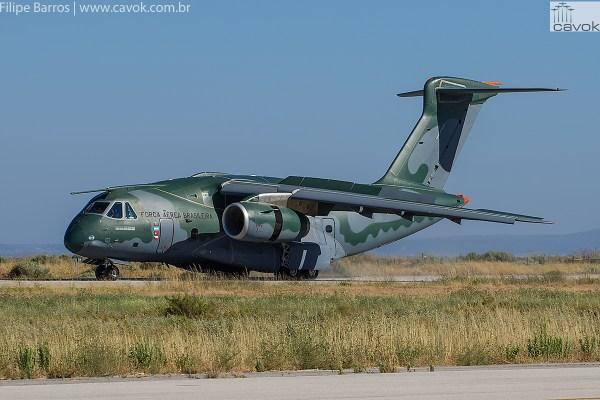 Chegada do KC-390 em Alverca, após cruzar o Atlântico pela primeira vez. (Foto: Filipe Barros / Cavok)