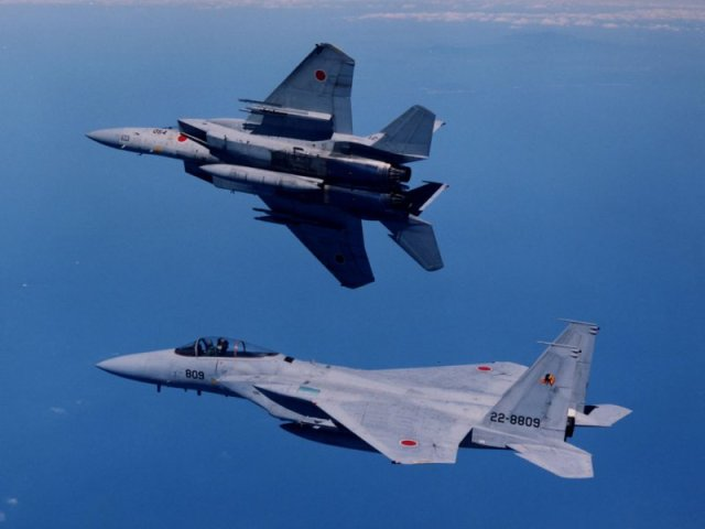 F 15J - F-15 JASDF vs Su-30 PLAAF : chineses acusam japoneses de provocação