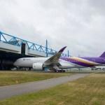 IMAGEM: Primeiro A350 da Thai Airways pronto para testes de voo