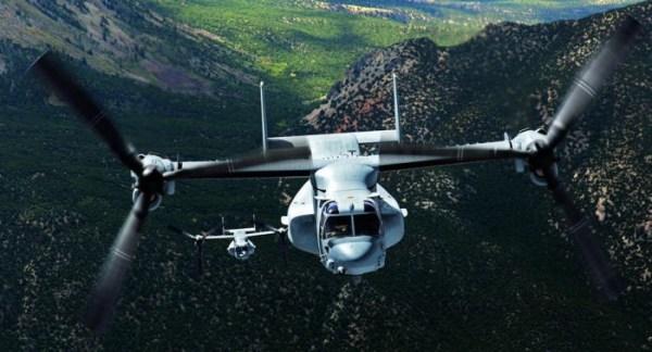A Bell-Boeing vai dar início a fabricação das 4 primeiras unidades do MV-22 Osprey para o Japão. (Foto: Bell Helicopter)