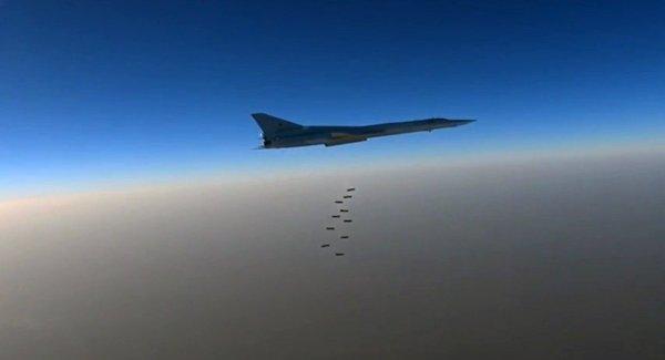 Bombardeiros Tu-22M3 da Força Aérea russa vem realizando ataques a locais do Estado Islâmico na Síria.