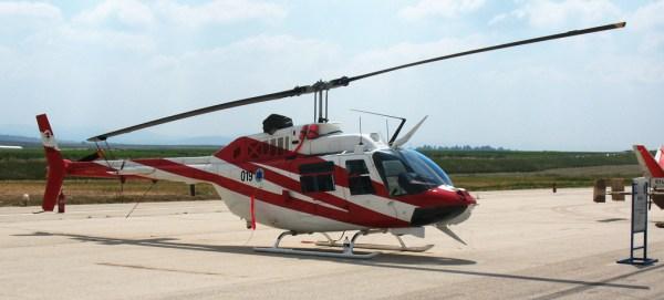 Um dos atuais helicópteros Bell 206 da Força Aérea de Israel. (Foto: IAF)