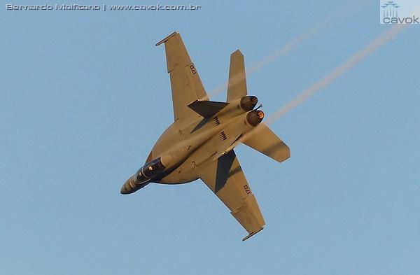 Show no final da tarde com apresentação do Super Hornet. (Foto: Bernardo Malfitano / Cavok)