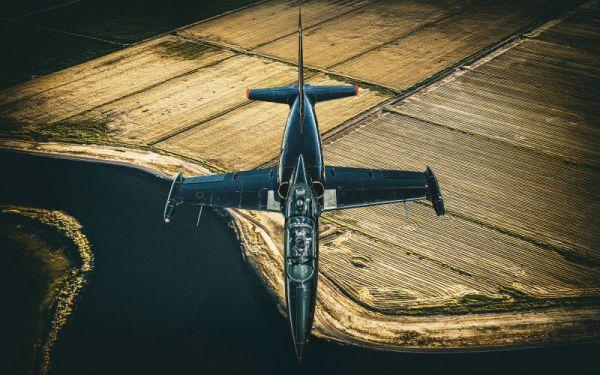 O resultado do voo invertido com dois jatos L-39. (Foto: Blair Bunting)