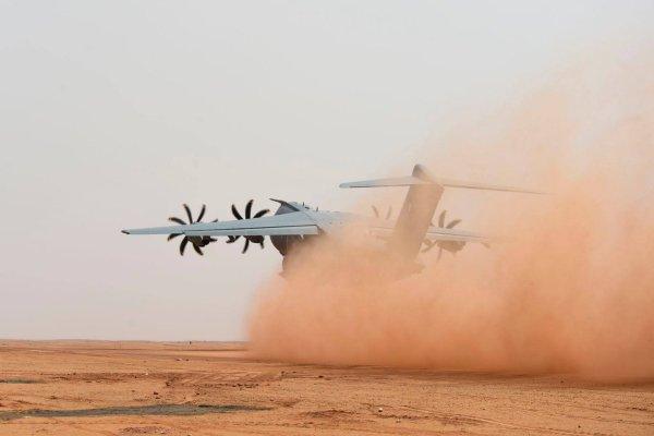O campo de pouso de Madama permite este tipo de testes austero. (Foto: Armée de L'Air)