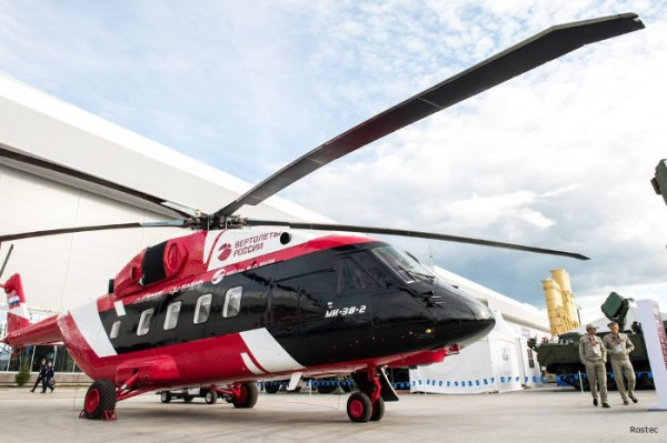 O helicóptero Mi-38 está sendo visado pelo Ministério de Defesa da Rússia. (Foto: Russian Helicopters)