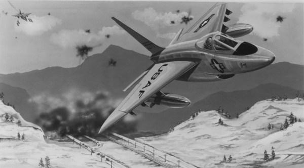 Concepção artística do Northrop N-102 Fang.