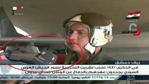 No vídeo transmitido pela agência de TV estatal da Síria, é possível ver um míssil R-77 instalado em um MiG-29.