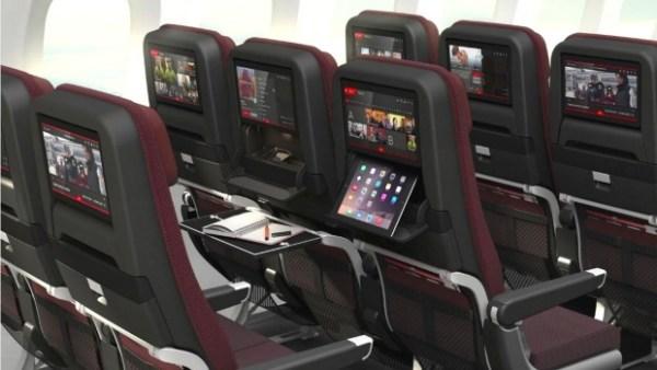 Novas cabines para classe executiva e novos assentos da classe econômica.
