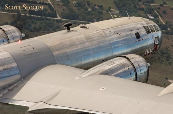 """O bombardeiro B-29 """"Doc"""" realizou o seu segundo voo no dia 1° de outubro. (Foto: Scott Slocum / Aero Media Group)"""