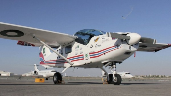 A aeronave de treinamento básico PAC Super Mushshak.