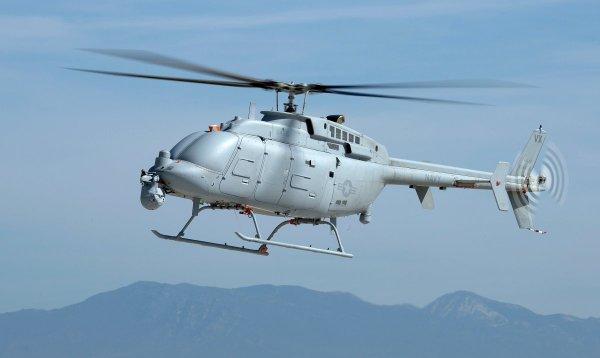 O Fire Scout tem a plataforma baseada no helicóptero civil Bell 407.