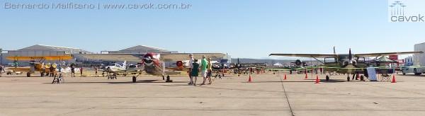 Aeronaves vintage também estiveram presentes no evento.  (Foto: Bernardo Malfitano / Cavok)