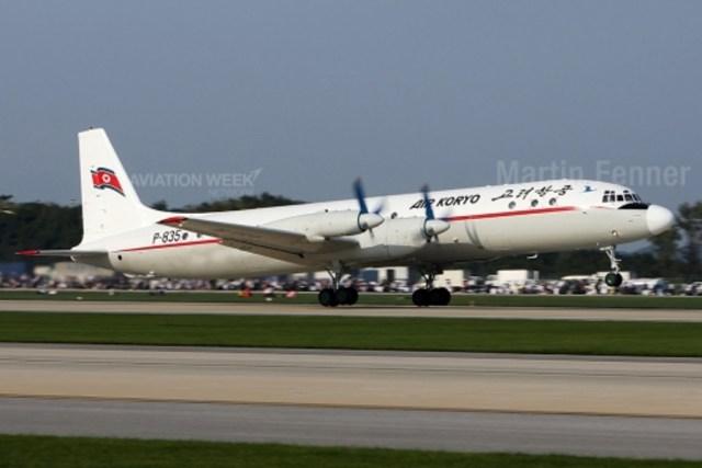 """Cena Do Passado A companhia Air Koryo é uma das poucas companhias aéreas que opera uma frota inteiramente da Era soviética, incluindo o Ilyushin Il-18 """"Coot"""", avião turboélice de quatro motores e que ainda é usado em rotas domésticas. Modelos mais modernos da companhia, como o Tupolev Tu-154 e Tu-204, são usados nas rotas internacionais para a China e a Rússia."""