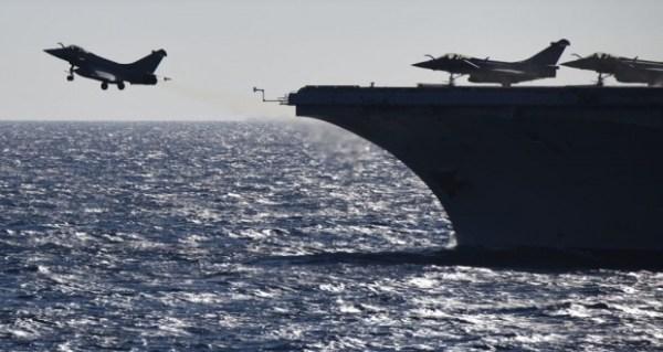 Os Rafales franceses já realizaram 32 missões durante a última semana de setembro. (Foto: AFP)
