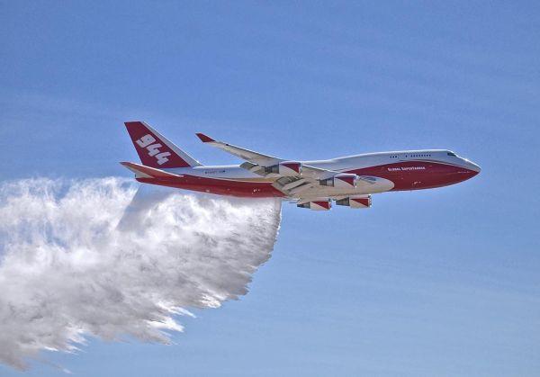 "O Boeing 747-400 Supertanker ""Spirit of John Mouir"". (Foto: Global Supertanker)"