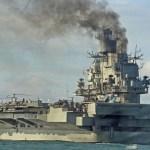 Escoltas do Almirante Kuznetsov perseguiram um submarino holandês