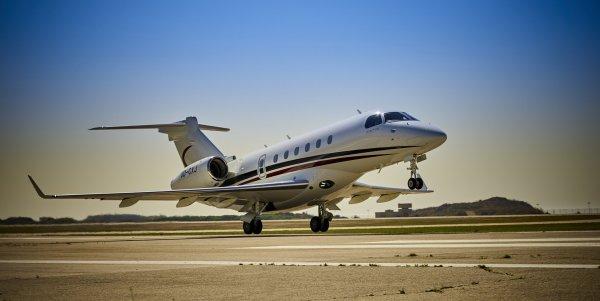 O jato executivo Legacy 500 da MEA. (Foto:  Embraer)