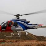Helicóptero leve chinês AC311A realiza testes de voo em montanha