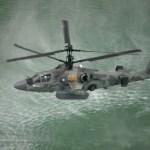 Helicóptero naval Ka-52K realiza novos testes em ambiente marítimo