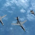 IMAGENS: Bombardeiros B-1B realizam missões bilaterais com Japão e Coreia do Sul