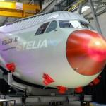 IMAGEM: Airbus recebe primeira seção frontal do BelugaXL com cabine totalmente equipada