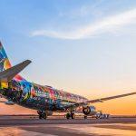 IMAGENS: Gol Linhas Aéreas apresenta especial Boeing 737-800 para promover o Rock in Rio