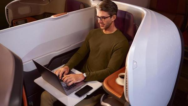 104813910 Business Class 0205 600x338 - IMAGENS: Singapore Airlines revela nova experiência de voo a bordo de seus A380