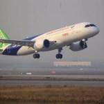 Aeronave chinesa C919 realiza terceiro voo de teste e segundo protótipo testa seus motores