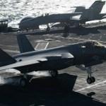 Caça F-35C completa qualificações a bordo do USS Abraham Lincoln