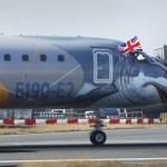 "Embraer E190-E2 ""Profit Hunter"" pousa pela primeira vez no Aeroporto de London City"