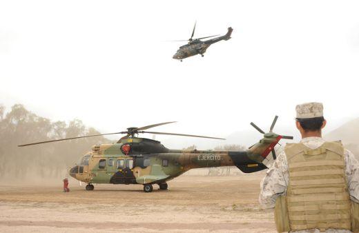 helicapteros cougar de la bave ejarcito de chile 520 - Exército Chileno encerra apoio na MINUSCA