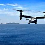 Aeronaves MV-22 Osprey dos Fuzileiros Navais dos EUA realizam voo transpacífico