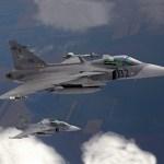 Gripens húngaros são acionados pela primeira vez na 50ª rotação do policiamento aéreo da OTAN