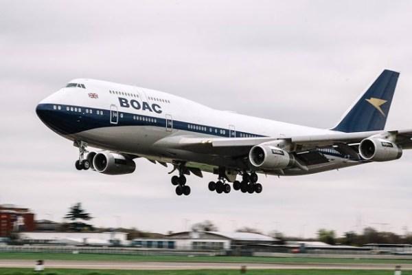 BOAC 747 Air Tattoo 600x400 - Aeronave 747 com pintura da BOAC voará em formação com os Red Arrows no RIAT 2019