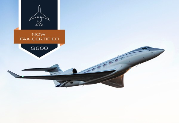 The all new G600 earned both its type and production certificates from the U.S. Federal Aviation Administration 600x412 - Gulfstream G600 recebe certificação da FAA