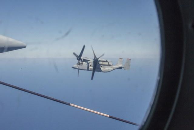 1000w q95 11 - IMAGENS: Fuzileiros Navais dos EUA realizam voo transpacífico com tiltrotores MV-22 Ospreys