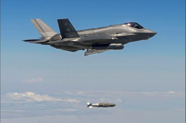 F 35 650x431 - VÍDEO: Ilha ocupada pelo ISIS é totalmente destruída em ataque aéreo
