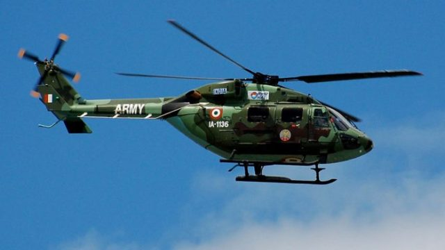 Army ALH Dhruv 696x392 - Helicóptero ALH Dhruv do Exército Indiano faz pouso de emergência