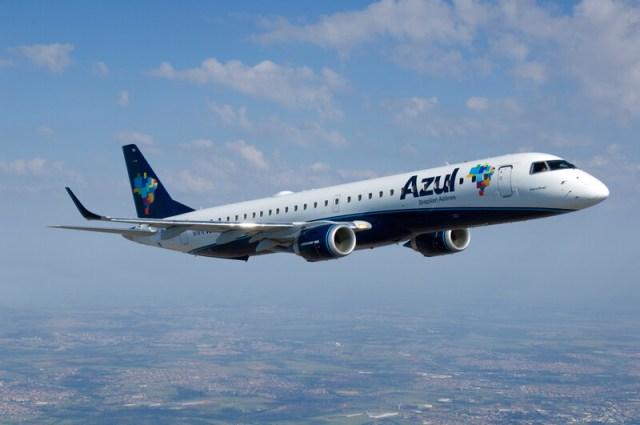 Embraer E195 Azul - Embraer e Azul assinam contrato de gestão de manutenção para frota de jatos E190 e E195