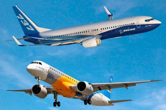 24961052 - UE suspende análise do acordo Boeing-Embraer à espera de dados