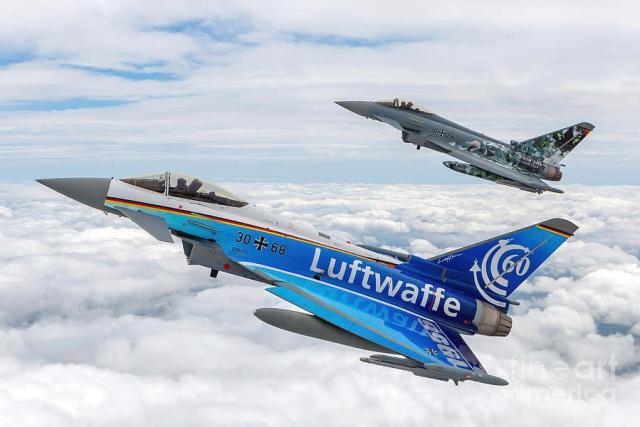 german luftwaffe eurofighter typhoon in flight b3 - Alemanha deve substituir seus Eurofighters antigos em novo programa da Airbus