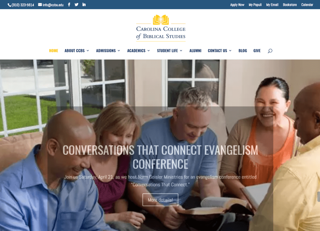 Click to see how CCBS improved their education website!