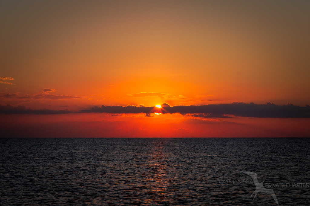 blood red sunset in grand cayman
