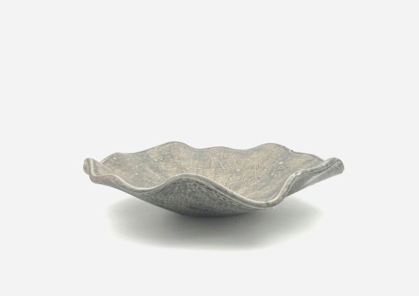 Bowl a Mano Irregular. Gris Mate Chispas. (L)
