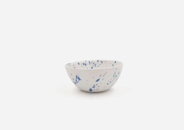 Bowl Con Molde. Blanco Dalmata Azul. (Xs)